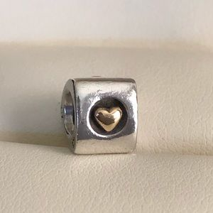 Pandora Retired Hearts Of Gold Charm